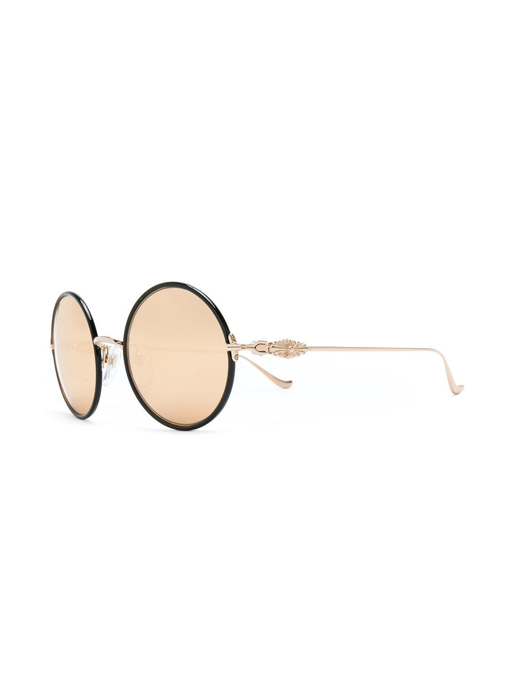 74d714efce Lyst - Chrome Hearts Round Frame Sunglasses