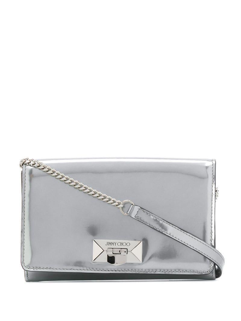 8386abac0590 Jimmy Choo - Metallic Corina Shoulder Bag - Lyst. View fullscreen