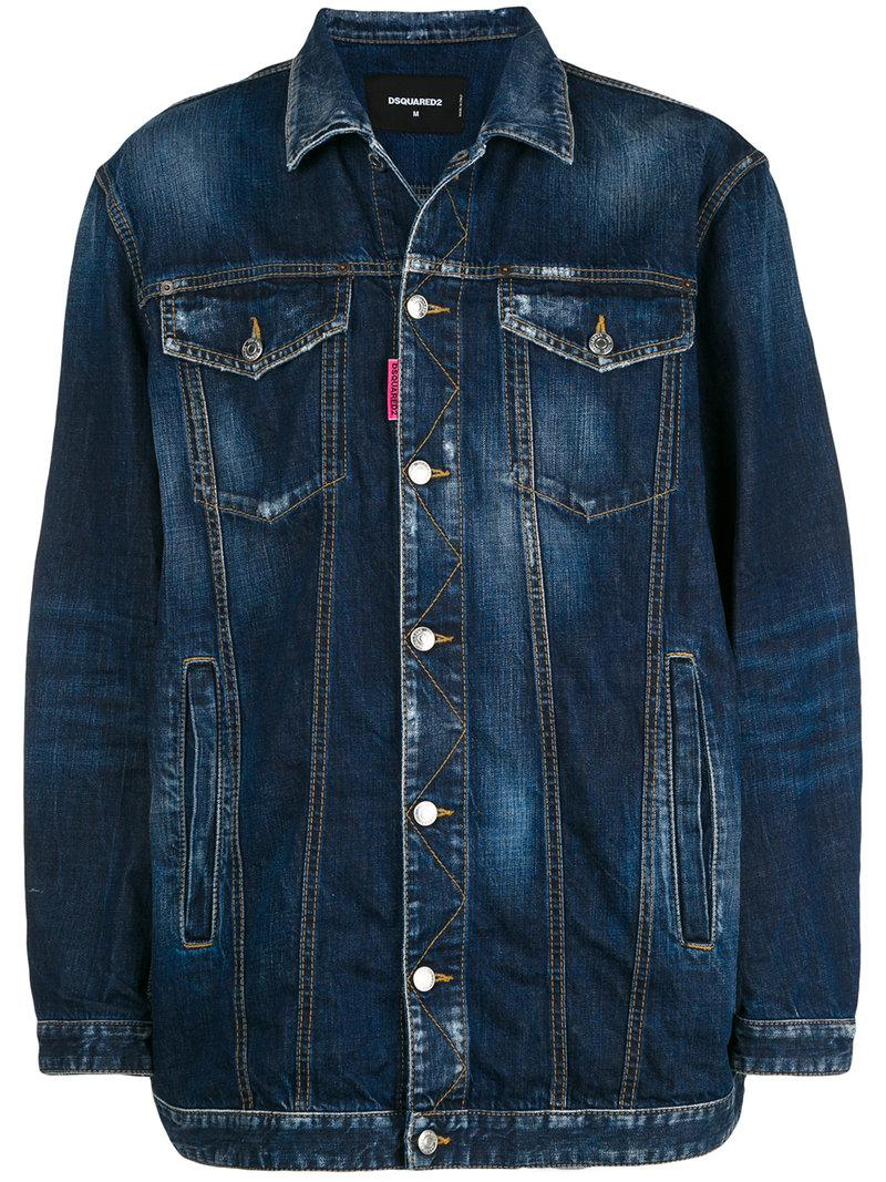 7585757a38 Lyst - DSquared² Be Nice Oversized Denim Jacket in Blue for Men