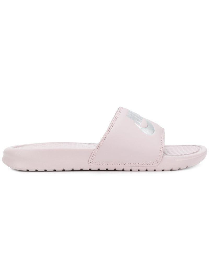 c262f6a67 Nike Benassi Just Do It Slides in Pink - Lyst