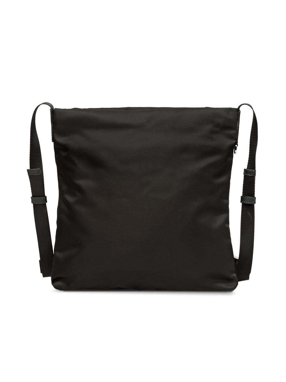 9fbb0615f7e8 Prada Logo Plaque Messenger Bag in Black for Men - Lyst