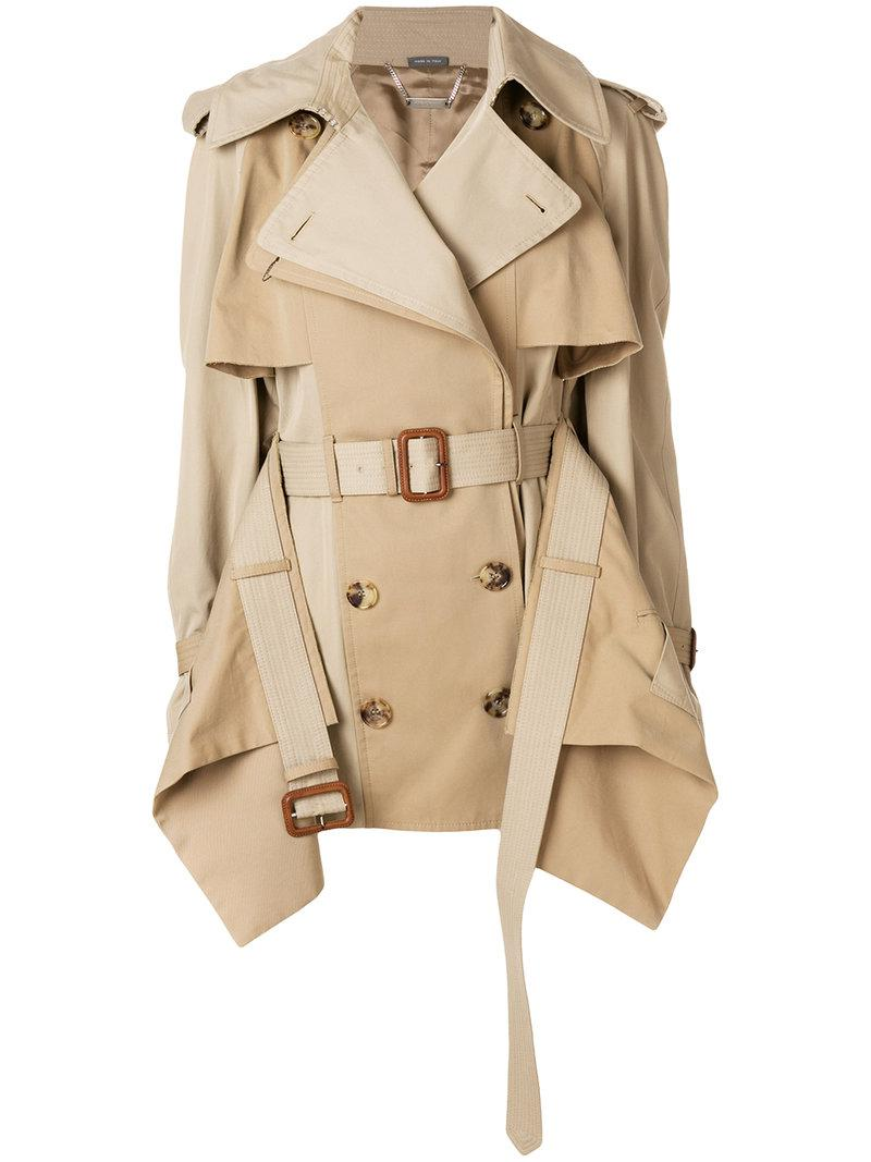 Alexander McQueen layered trench coat Outlet Shop Offer Free Shipping Best Sale Cheap Footlocker gViXzXRT4q