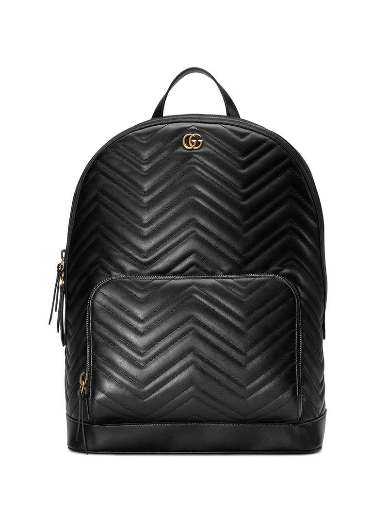 5e3afdcc737 Gucci GG Marmont Matelassé Backpack in Black for Men - Save 26% - Lyst
