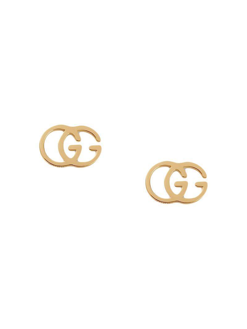 333ad34c60b Lyst - Gucci GG Tissue Stud Earrings in Metallic