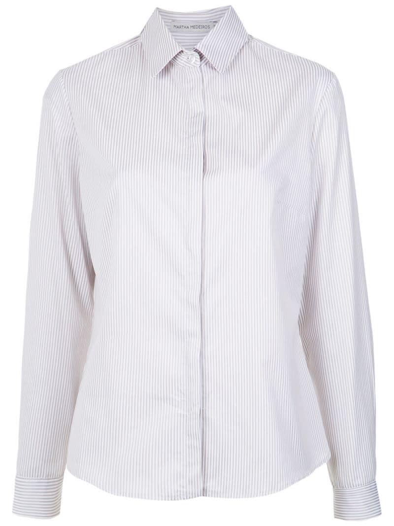 2a6b034ad6c566 Martha Medeiros Lace Detail Shirt in White - Save 31% - Lyst
