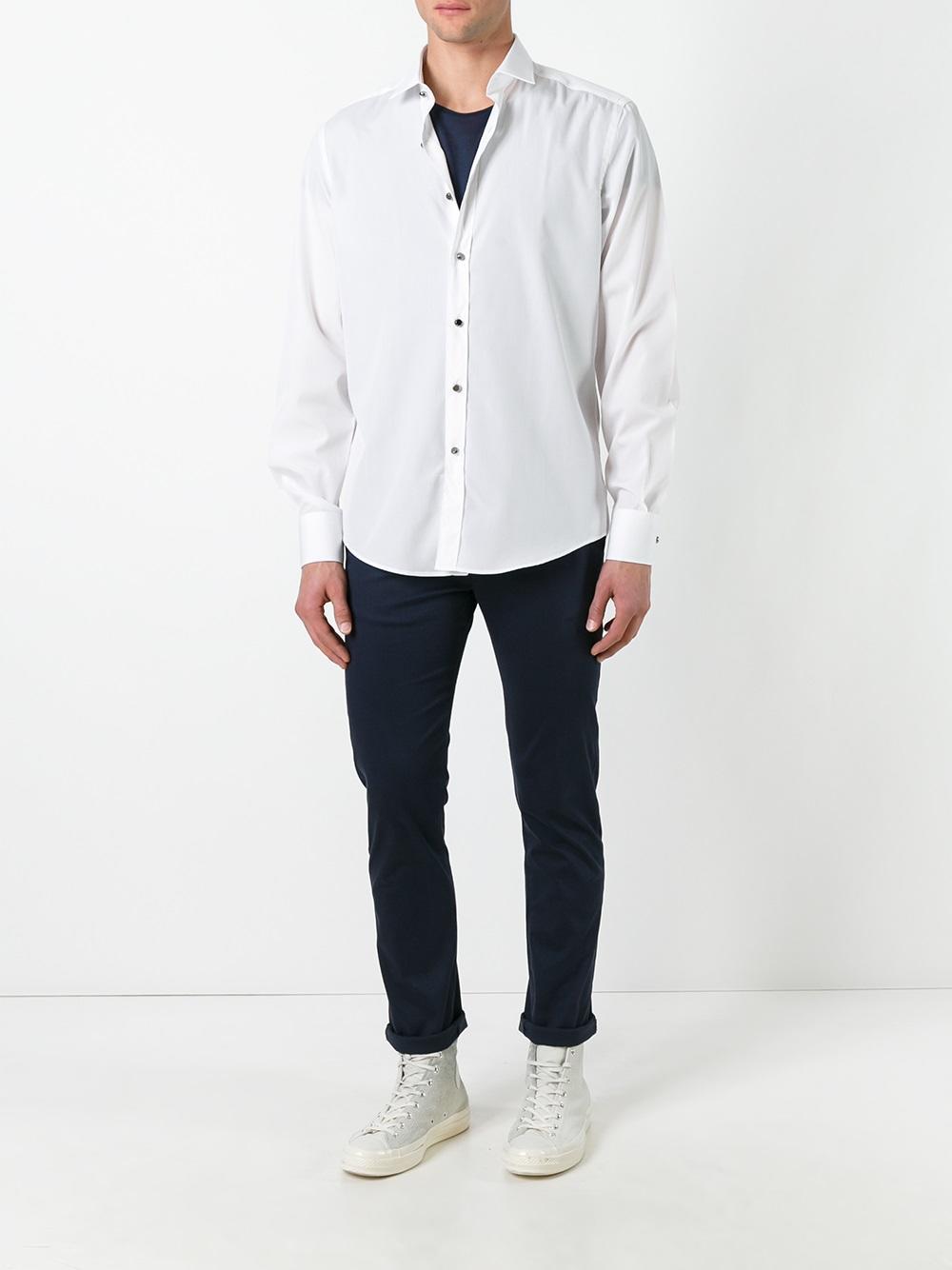 Blanco de con metalizados Lanvin botones Camisa detalle gUAq6X
