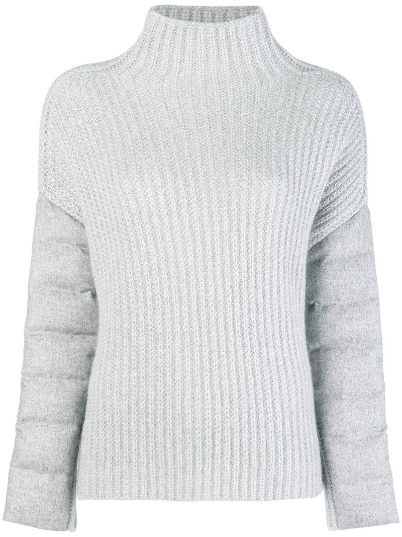 c84a957527532b Lyst - Herno Chunky Knit Jumper in Gray