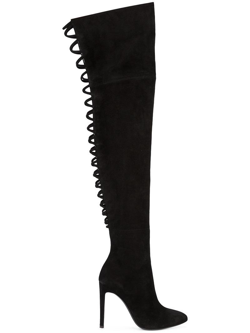 Giuseppe Zanotti Suede Thigh-High Boots quality free shipping outlet buy cheap visit 60d8IKkK