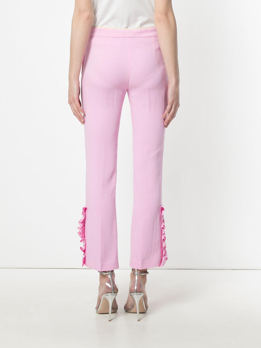 cropped flared trousers - Pink & Purple N°21 KIMczeZhjg