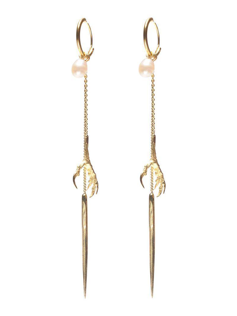 18kt gold Crowss claw earrings - Metallic Wouters & Hendrix pjsRLB