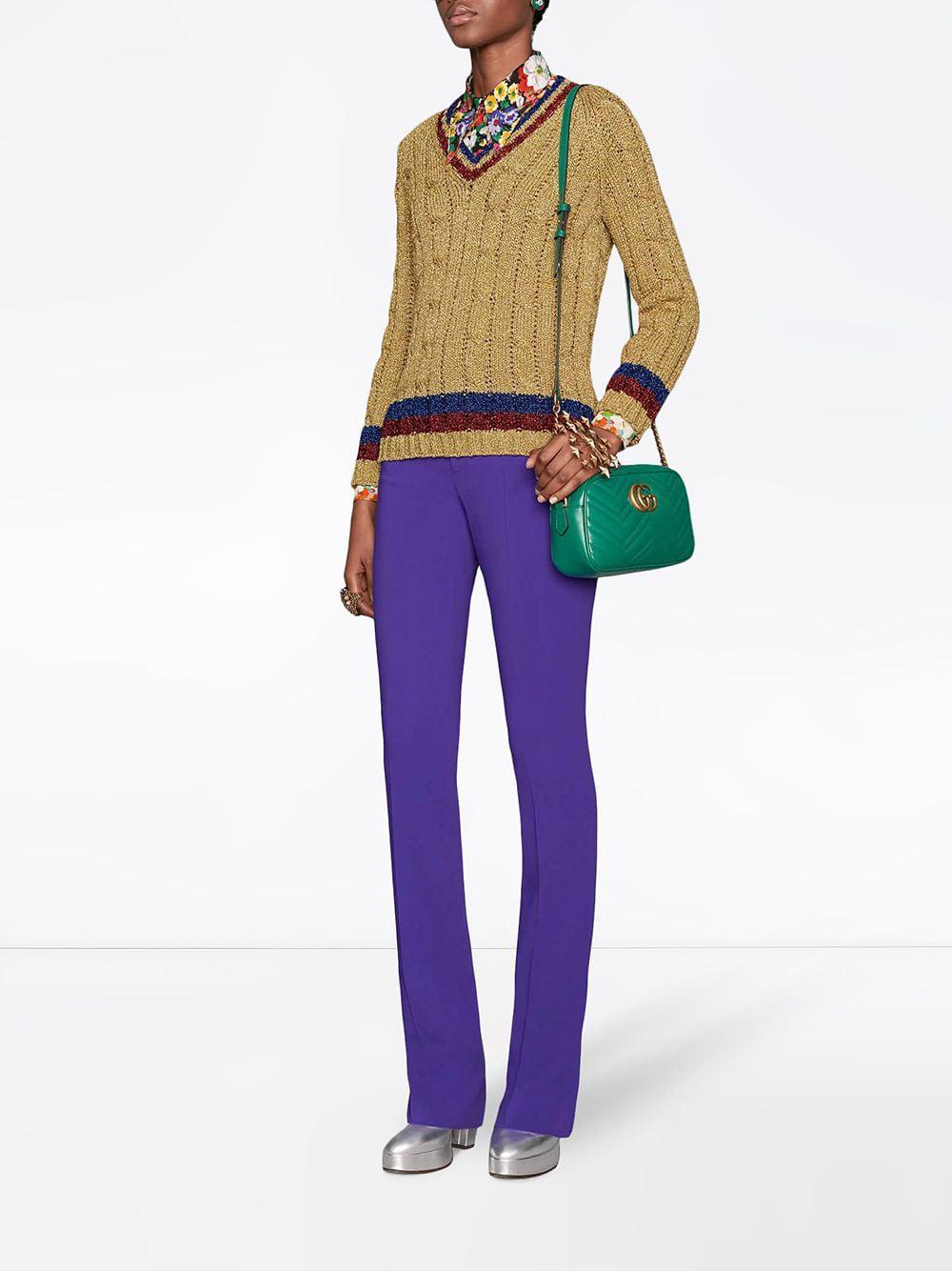 Gucci - Green Gg Marmont Small Shoulder Bag - Lyst. View fullscreen 79f2212751669