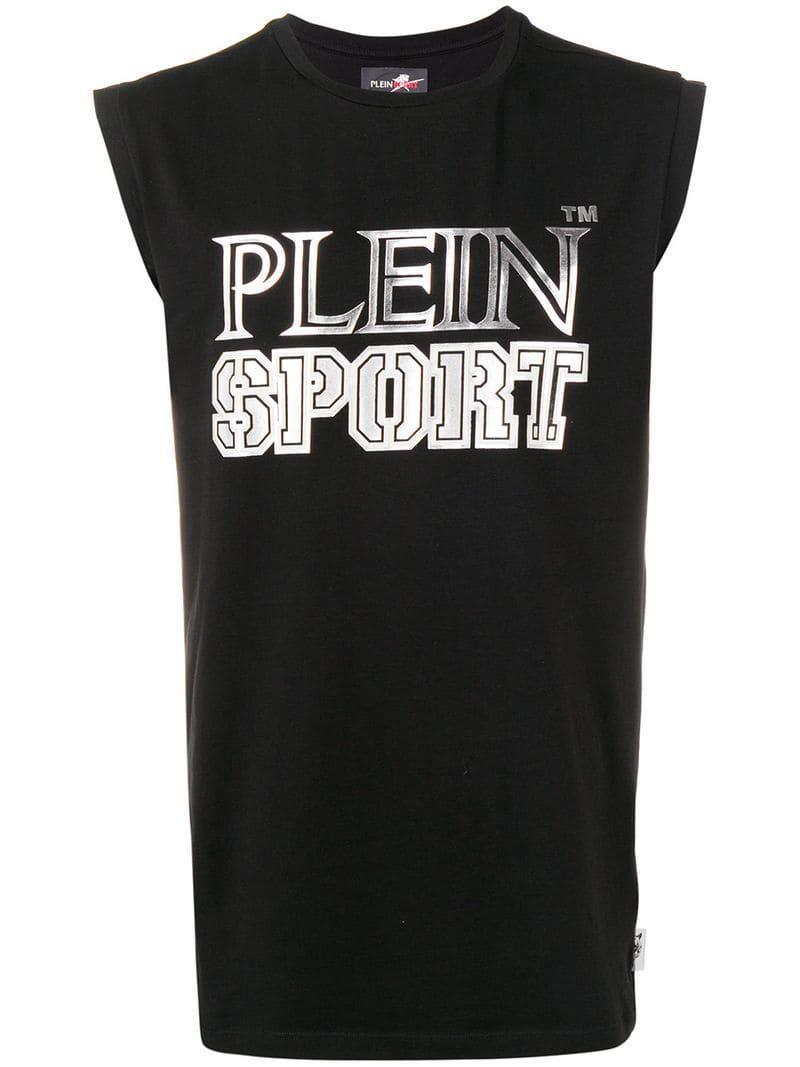 1f8a3acaaf862b Philipp Plein Logo Print Tank Top in Black for Men - Lyst