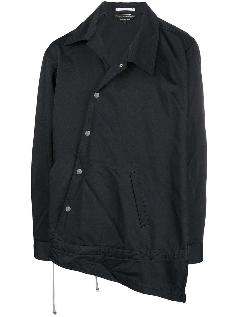 Garçons Hem Des Asymmetric Jacket Comme Noir qaTwTpzSB