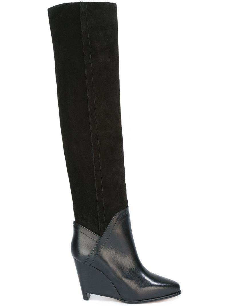 12cb5c67b80c Lyst - Maison Margiela Wedge Knee High Boots in Black