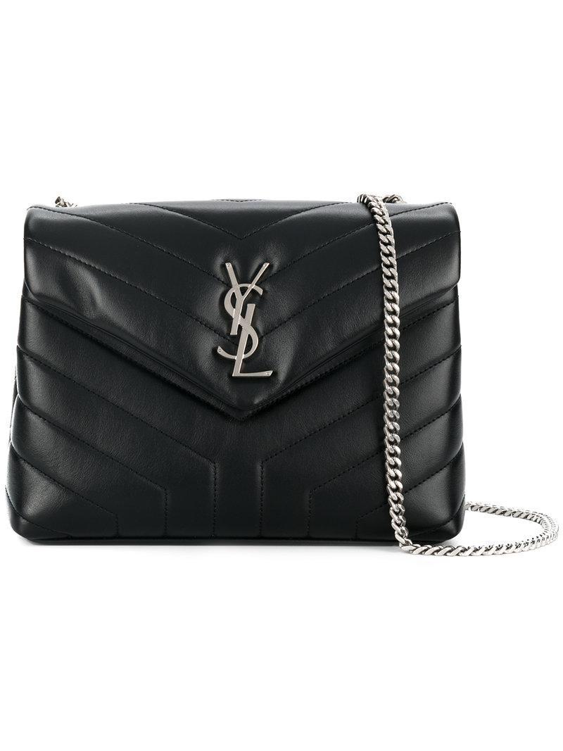 19c5067a1 Saint Laurent Lou Lou Shoulder Bag in Black - Lyst