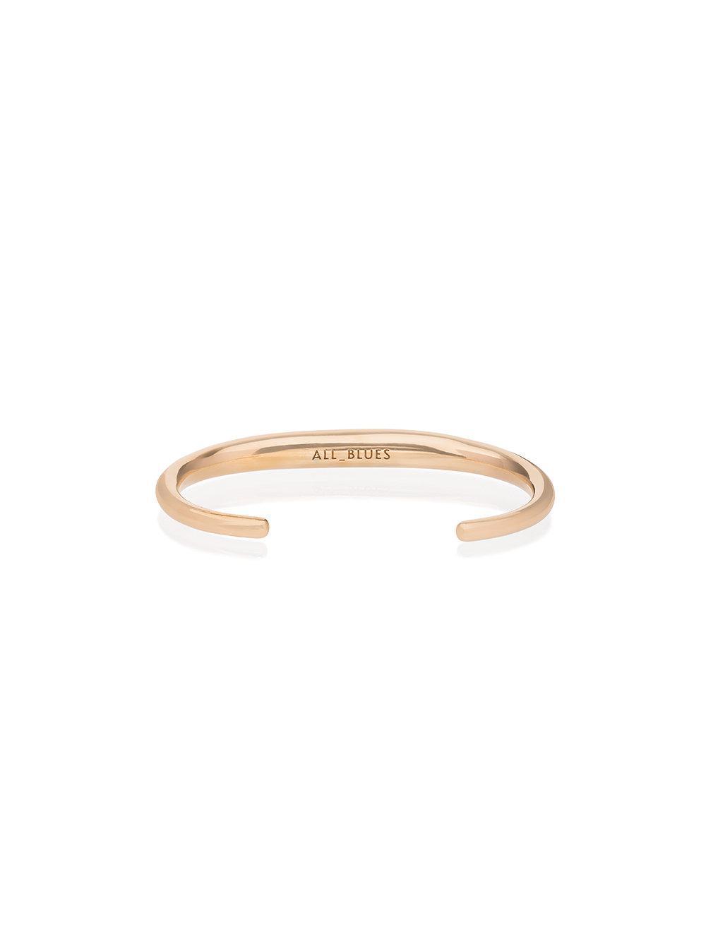 All_Blues Gold Fat Snake Bracelet - Metallic J8rnWAU6j