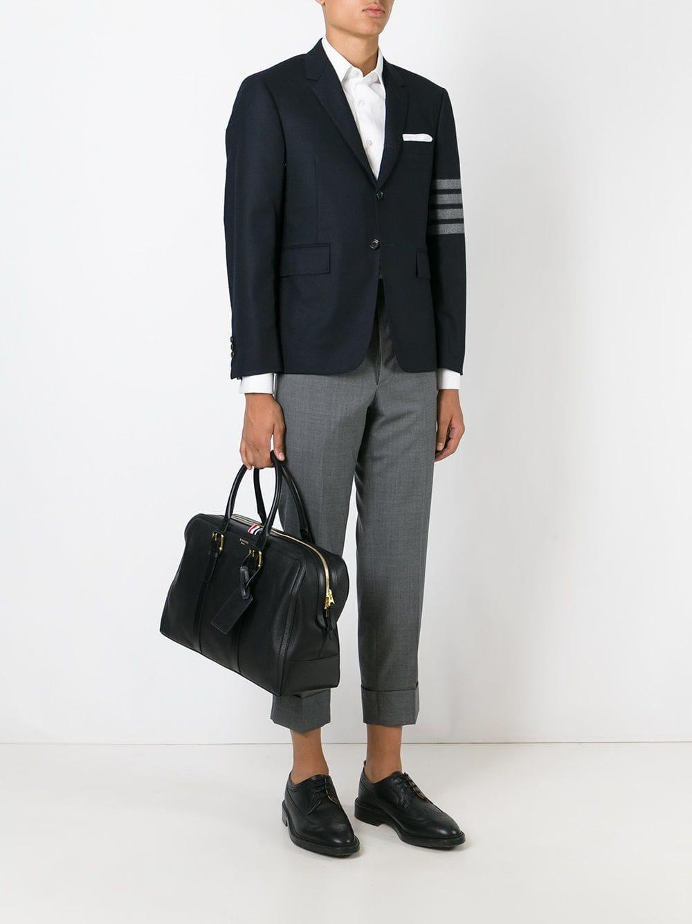 404f5acda324e Lyst - Thom Browne Double Zip Tote Bag in Black for Men