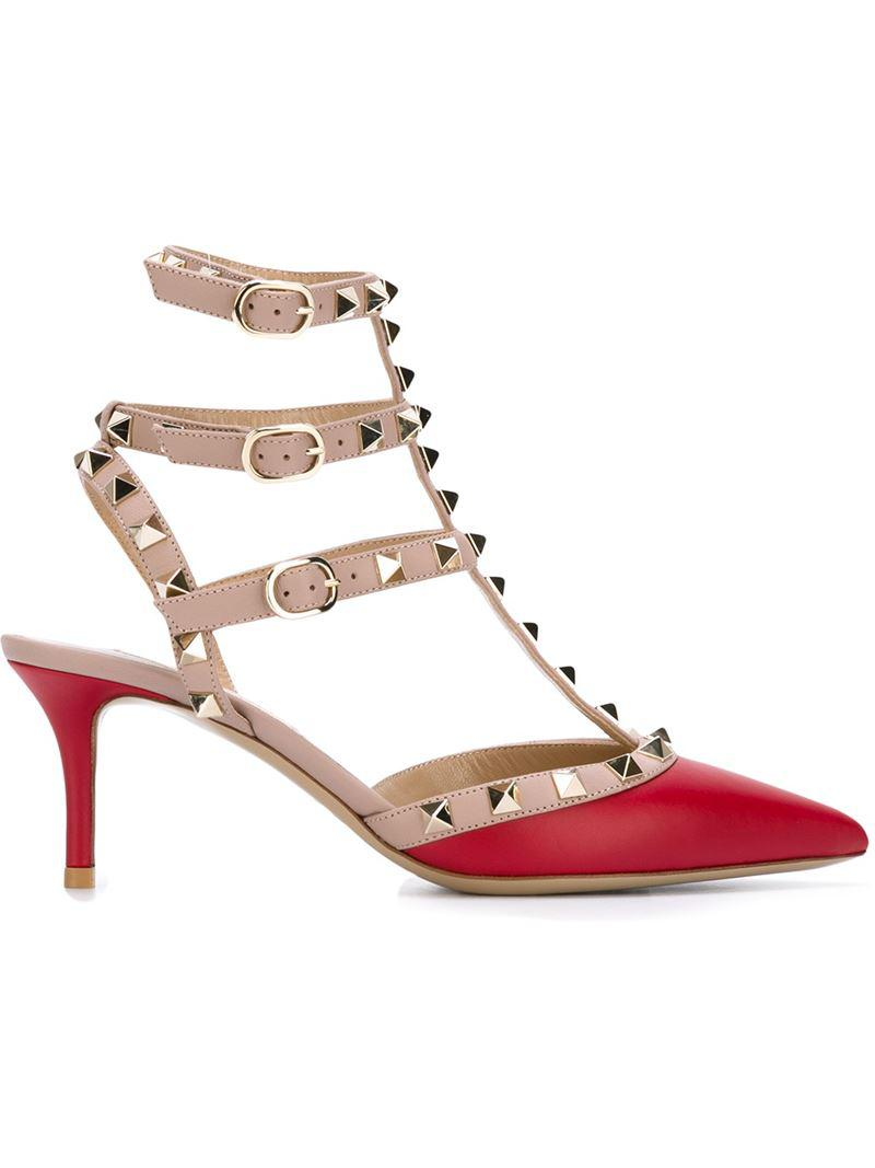 907285f8b1c5 Lyst - Valentino Garavani  rockstud  Pumps in Red - Save 19%
