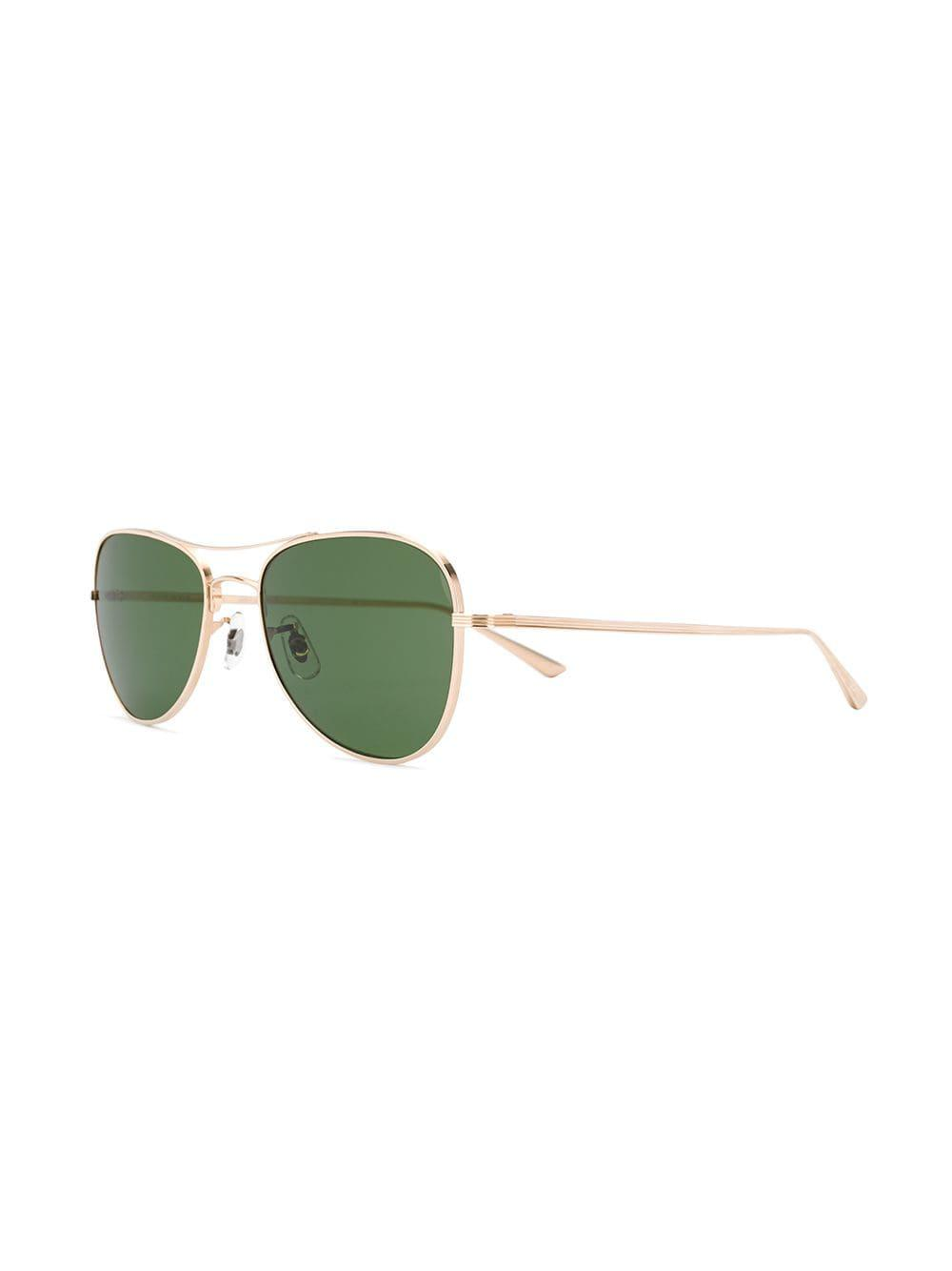 0db5016dc4 Oliver Peoples - Metallic Executive Suite Sunglasses - Lyst. View fullscreen
