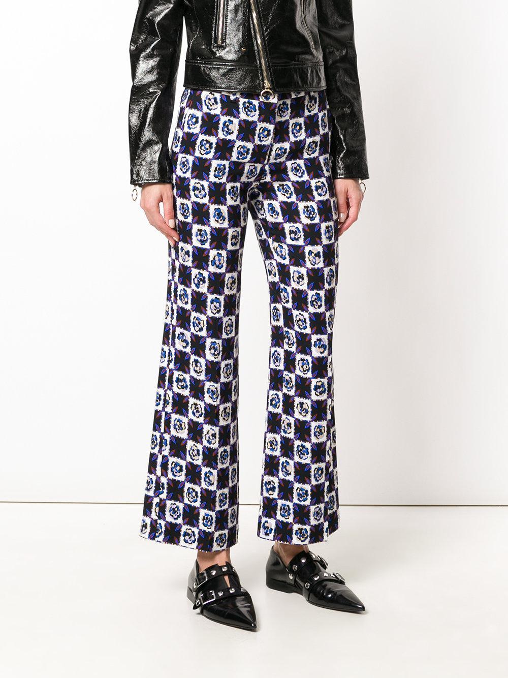 printed cropped flared trousers - Multicolour Emilio Pucci CI84t4blX