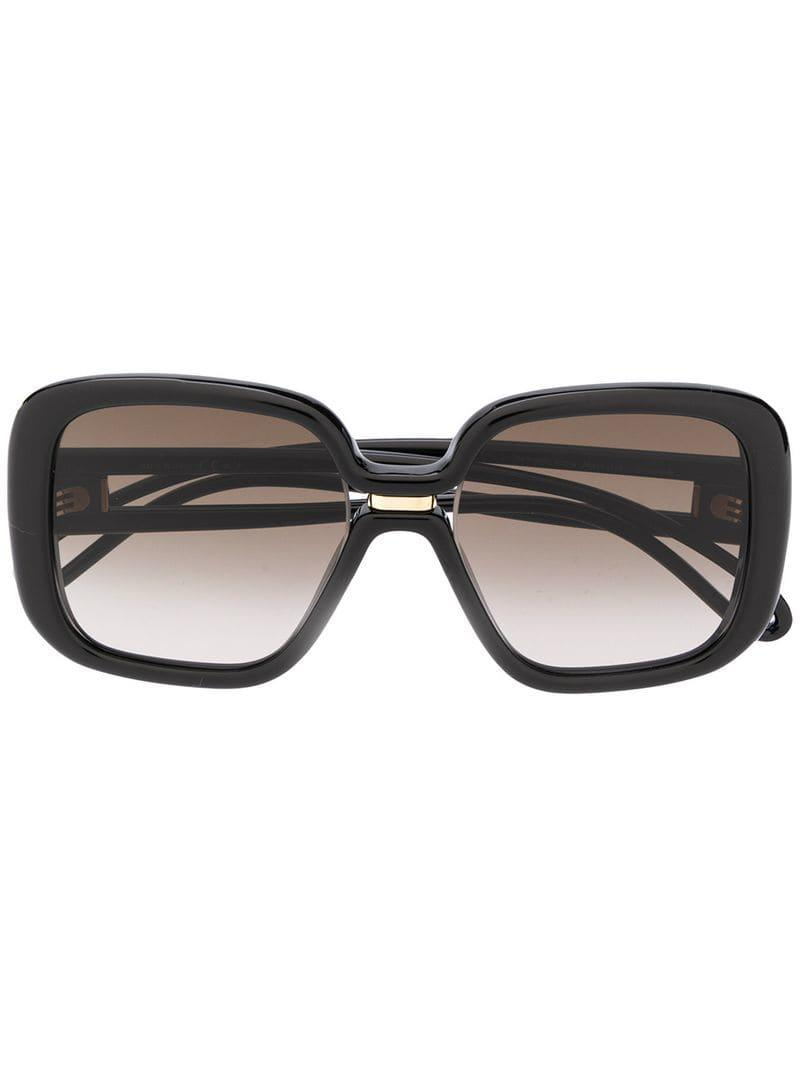 a3f3b1eefe Givenchy Oversized Frame Sunglasses in Black - Lyst