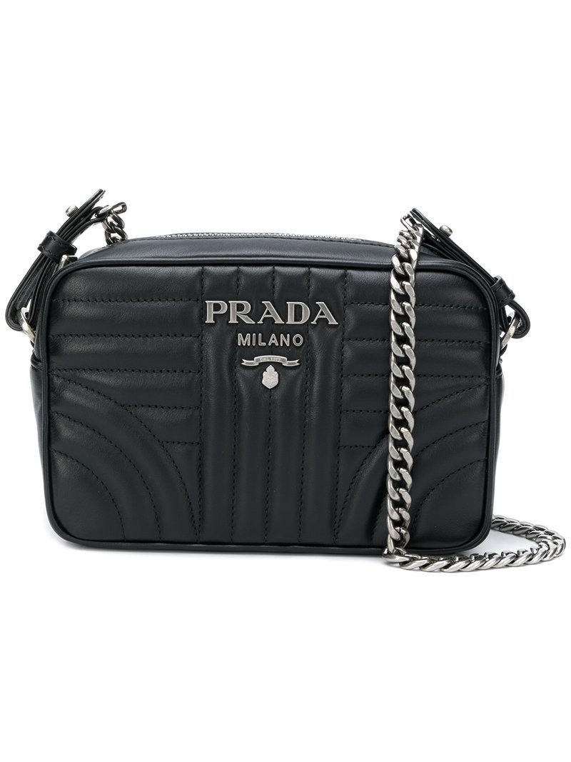 50da6dedd4fe Prada - Black Bevelled Camera Bag - Lyst. View fullscreen
