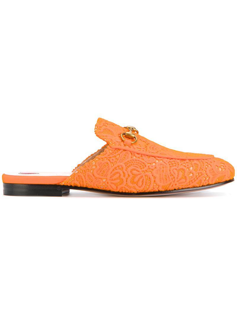 Gucci Pantoufles Princetown - Jaune Et Orange 3uXzSst
