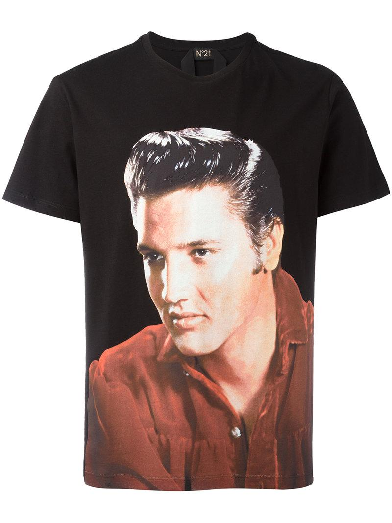 Lyst N 21 Elvis T Shirt In Black For Men