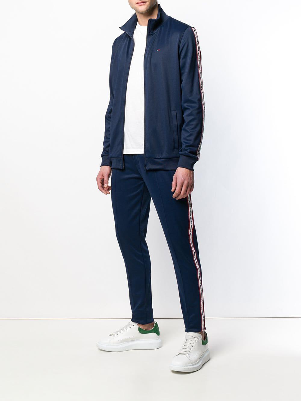 bffe290fc4abff Lyst - Tommy Hilfiger Logo Tape Track Pants in Blue for Men