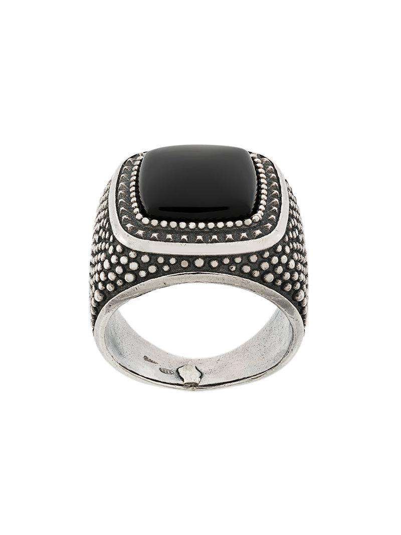 Emanuele Bicocchi round stone embellished ring - Metallic iliwU88cX8