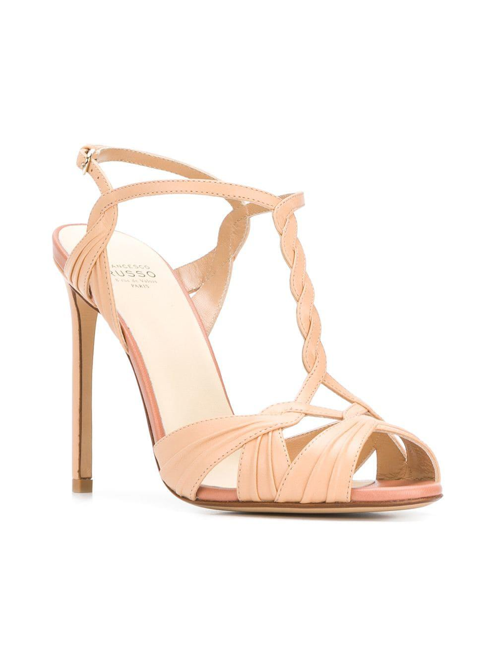 0bfdd4ad002a Francesco Russo - Multicolor Ankle Strap Sandals - Lyst. View fullscreen
