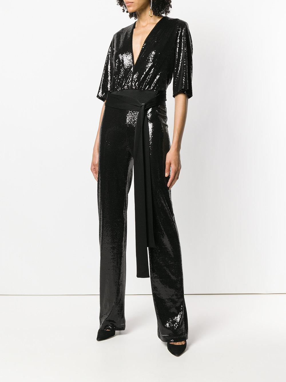 0161b71599a Galvan - Black Galaxy Sequin Jumpsuit - Lyst. View fullscreen