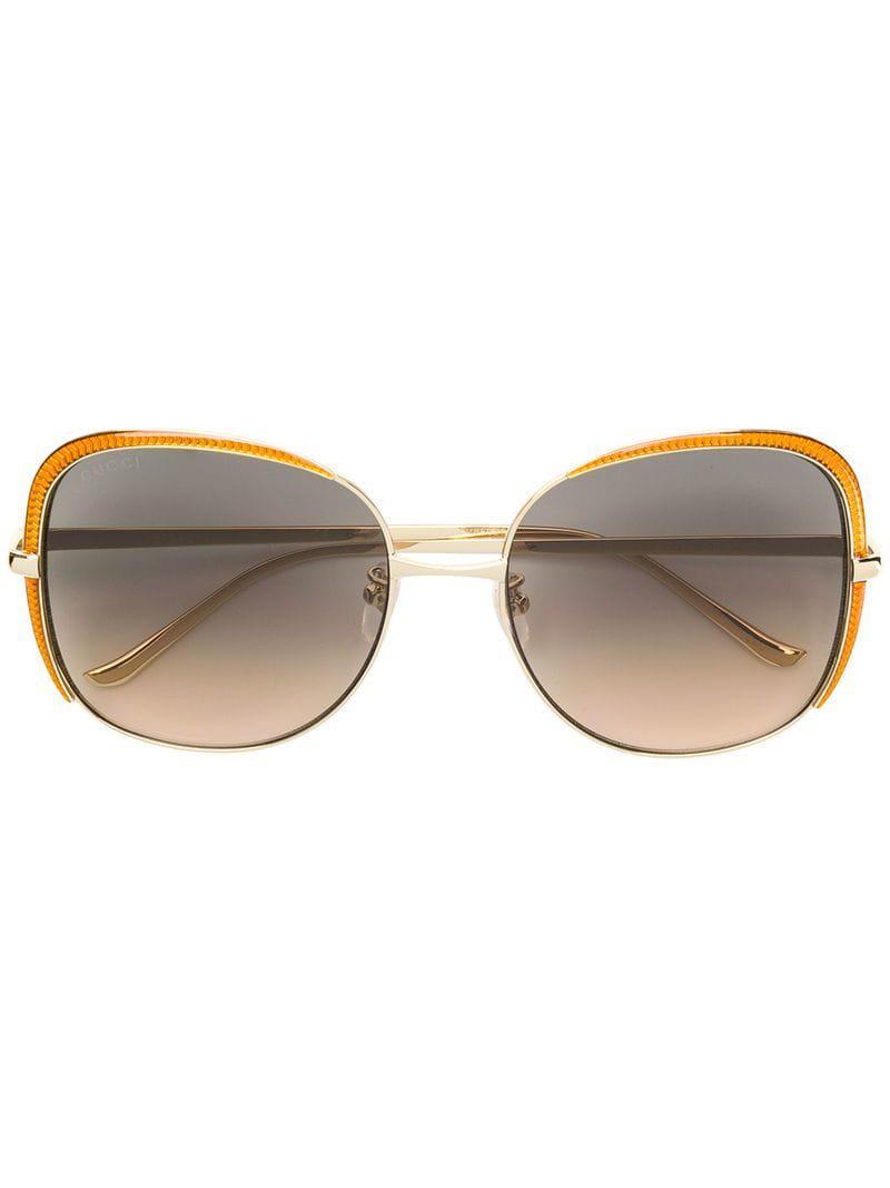 26cf2c77567 Gucci Oversized Frames Sunglasses in Metallic - Lyst