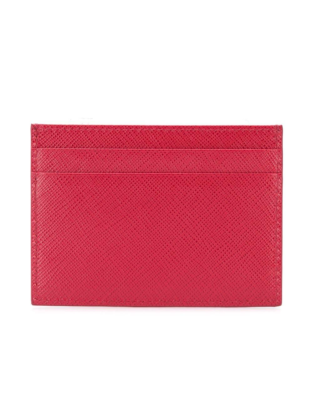 45e0d046d1cc Lyst - Prada Slim Card-holder in Red for Men