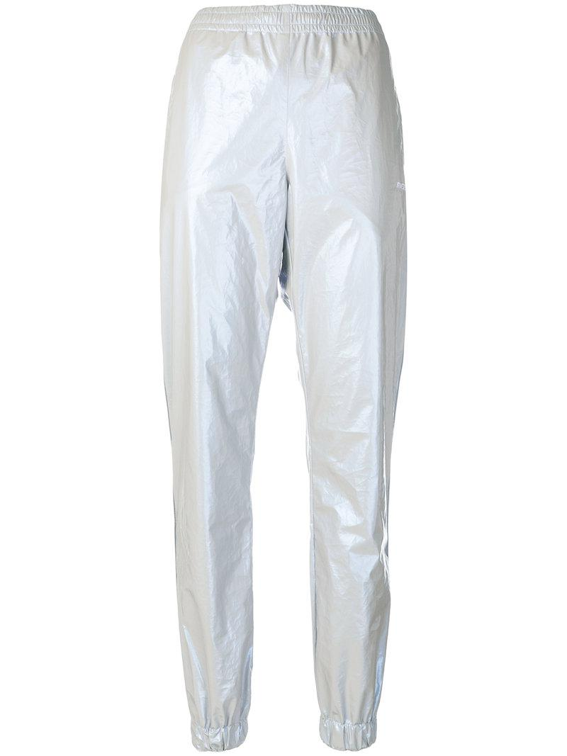 elasticated waist trousers - Metallic Misbhv Wb5baGutSB