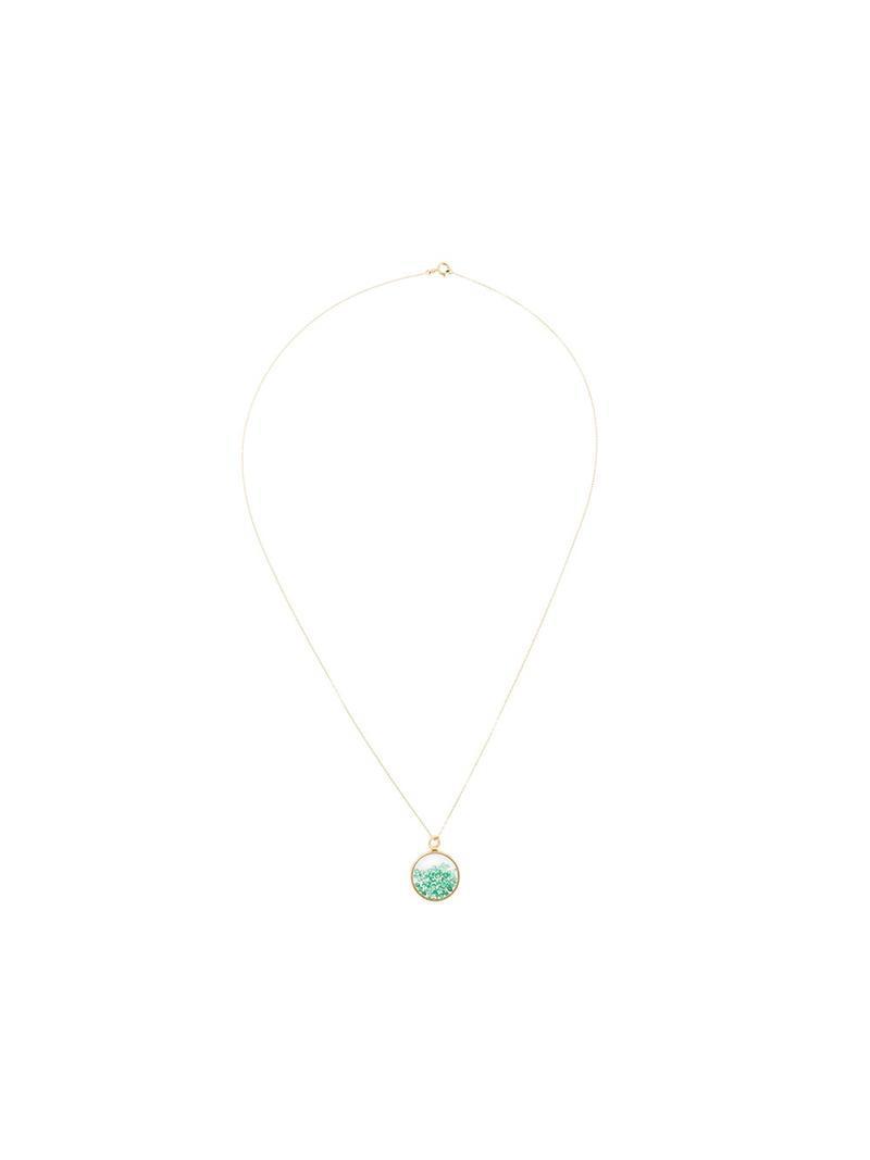 Aurélie Bidermann Chivoir sapphire necklace - Metallic ikL2Bxl