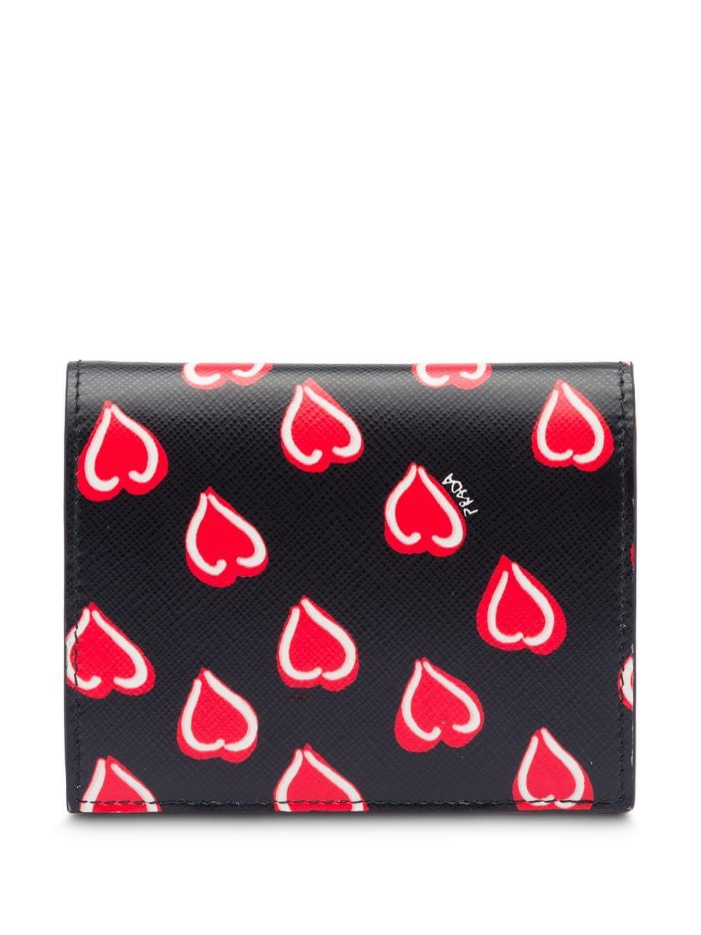 182c584b19 Prada - Black Small Saffiano Leather Wallet - Lyst. View fullscreen