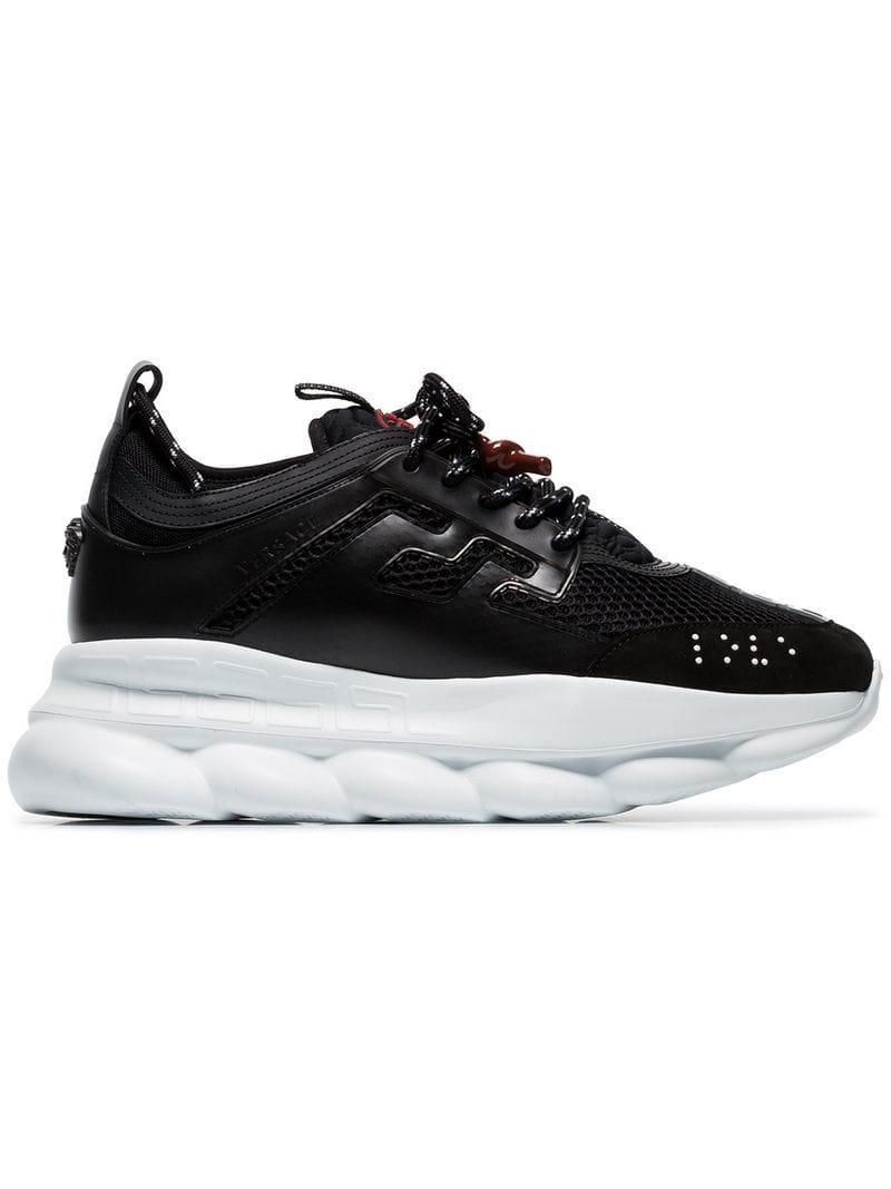 b2d4201adfe Lyst - Baskets Chain Reaction Versace pour homme en coloris Noir - 8 ...