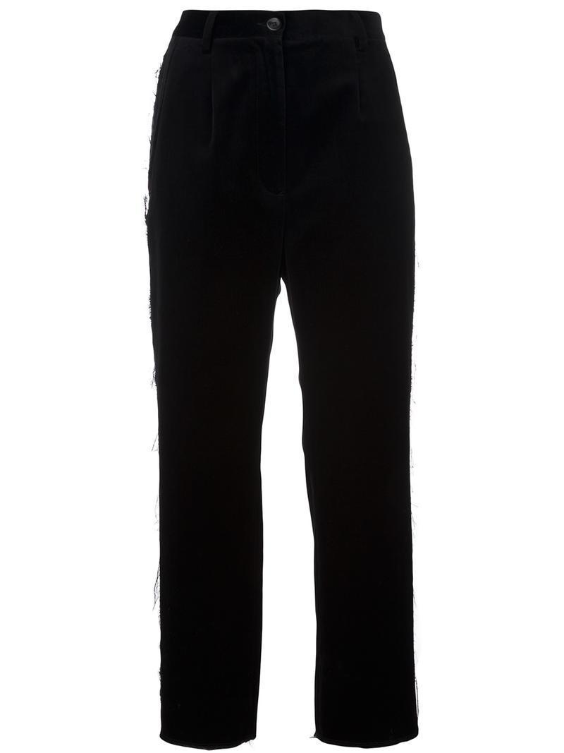 pinstripe cropped trousers - Black Maison Martin Margiela Sale Fashionable For Sale Top Quality ezST35