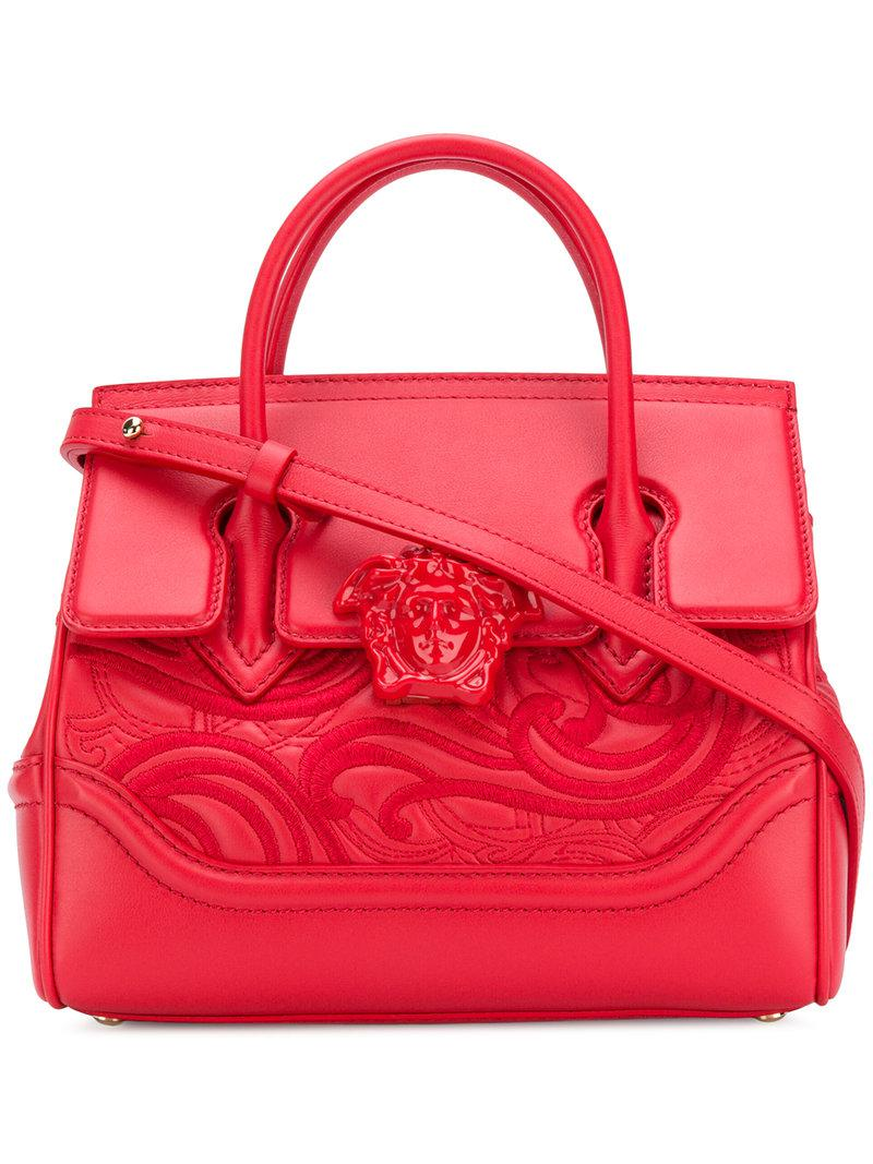 45ced9bae76a Versace Palazzo Empire Tote Bag in Red - Lyst