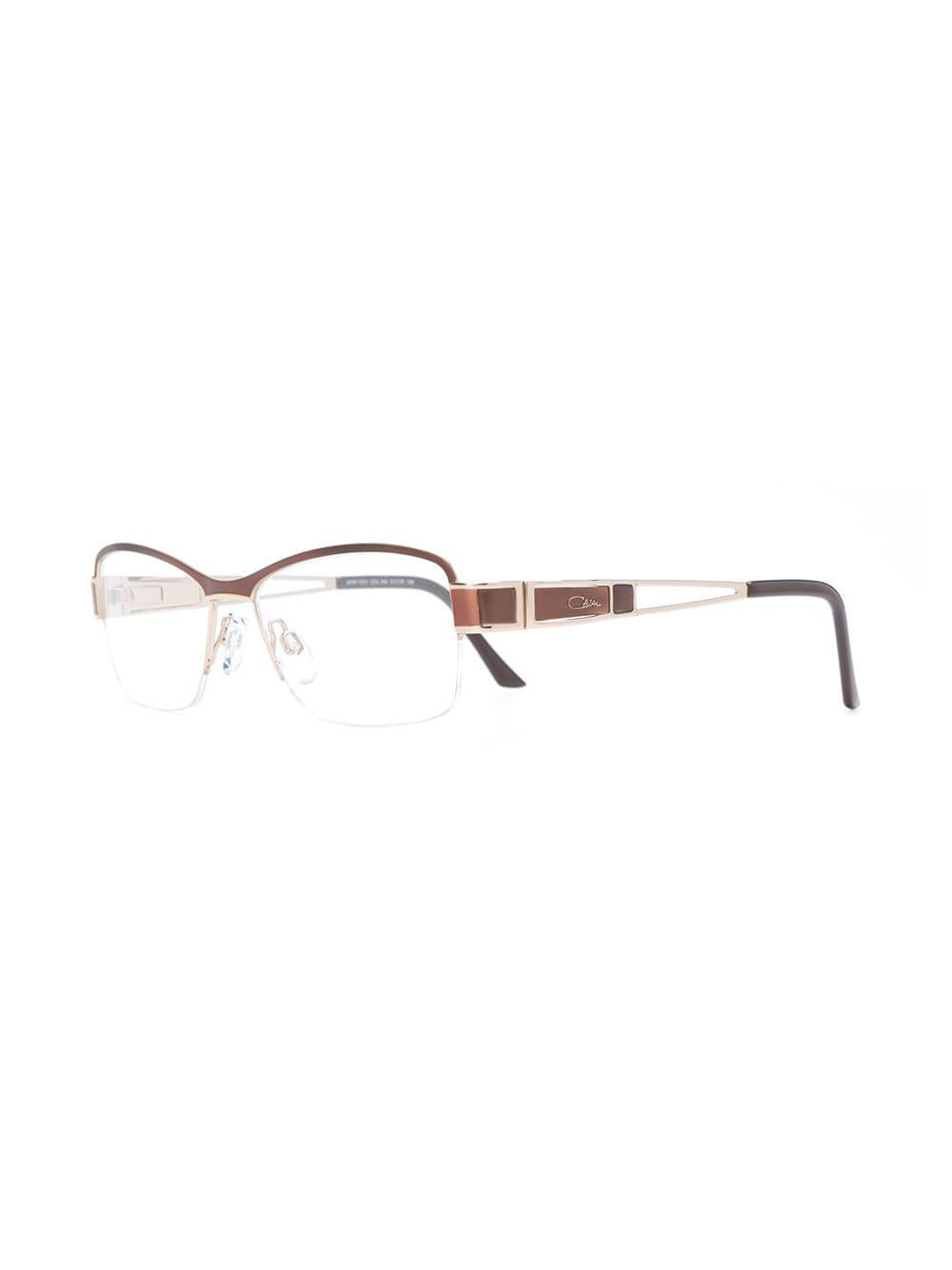 bfeb08603c8d Lyst - Cazal Rectangle Frame Glasses in Brown