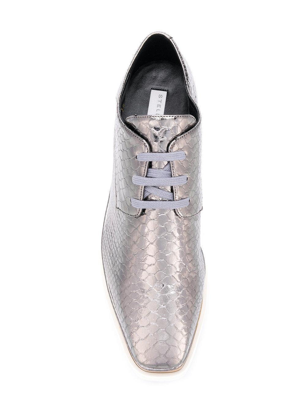 075aefe9fb7 Lyst - Stella McCartney Platform Elyse Shoes in Metallic