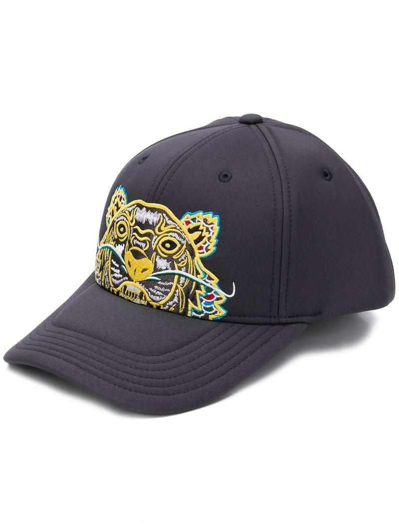 8b80659b252c1 Kenzo Neoprene 'dragon Tiger' Cap in Gray for Men - Lyst