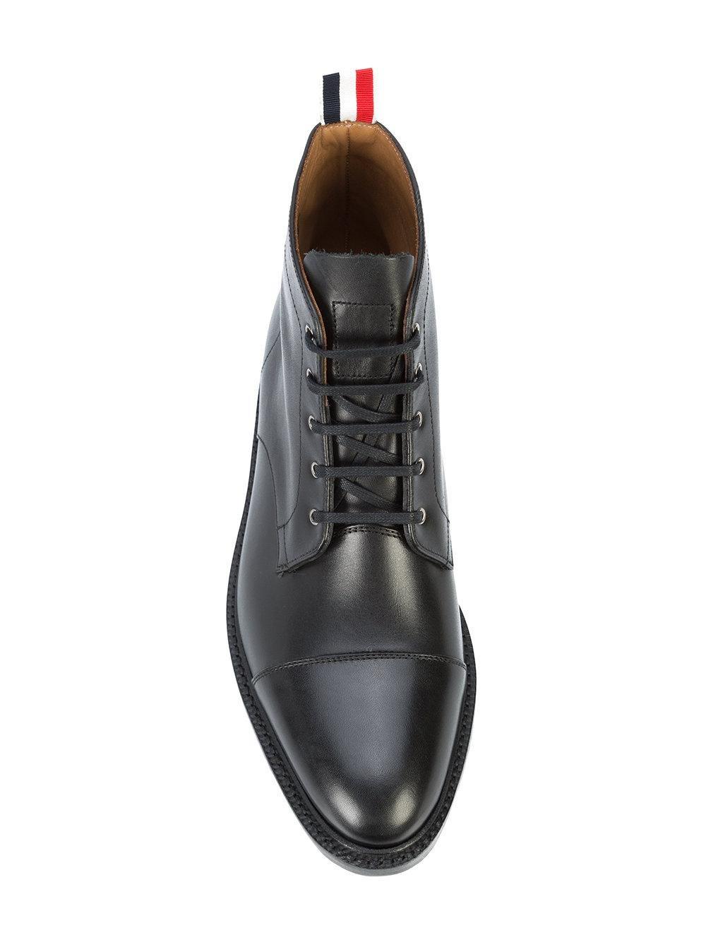Black Cropped Derby Boots Thom Browne Geniue Stockist Cheap Online RHvxVaj