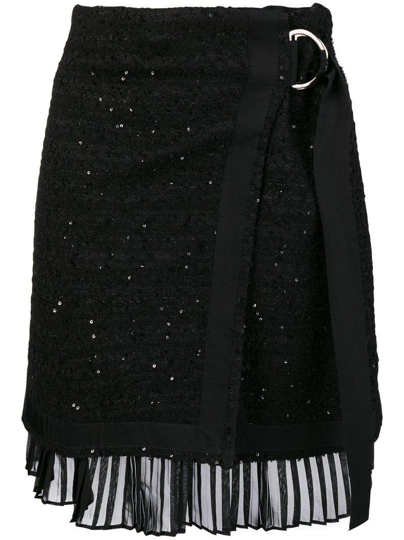 Karl Skirt Casual El Ruffles With Stylebop Boucle gris Lagerfeld nvm0OPyNw8