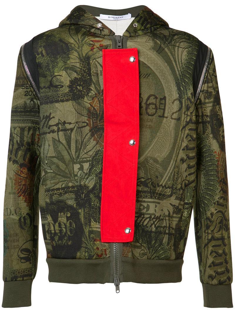 5173ae8cede Lyst - Sweat à capuche imprimé Givenchy pour homme en coloris Vert