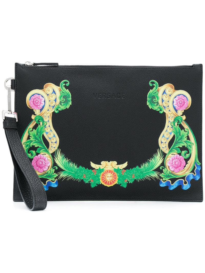 Versace printed clutch bag - Black LzGcTs6