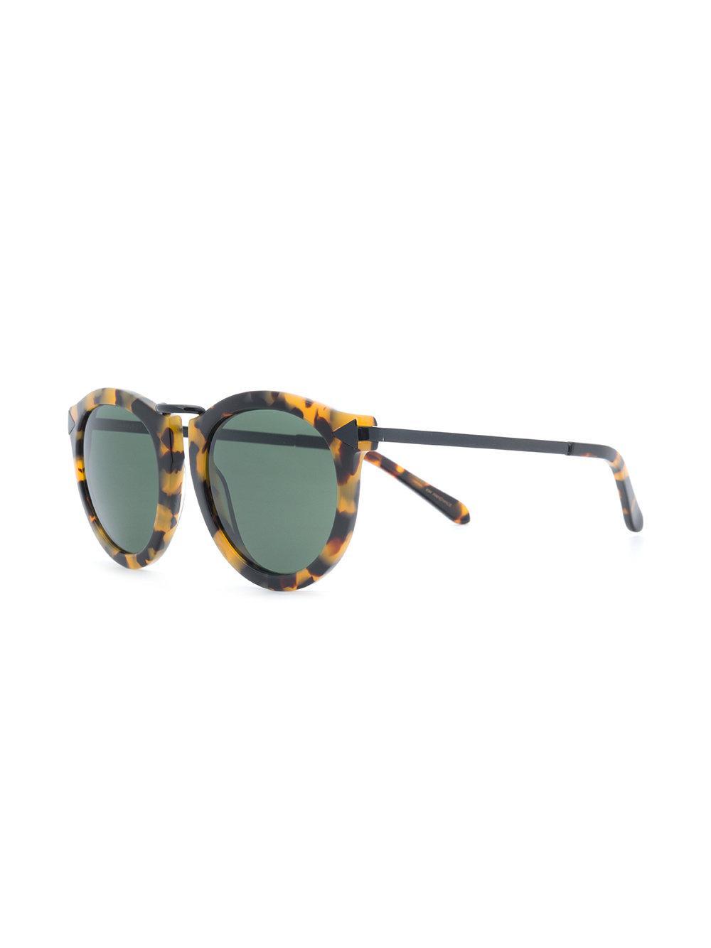 479f73dd8a Karen Walker - Multicolor Tortoiseshell Round Sunglasses - Lyst. View  Fullscreen