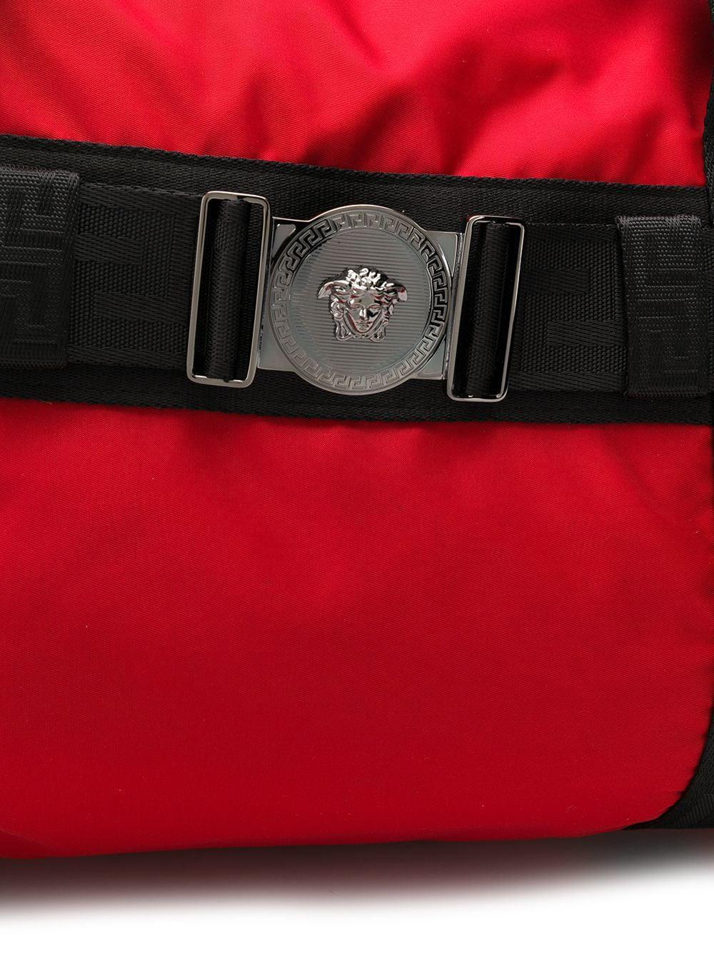 eb6ec3d64 Versace Greca Ribbon Weekend Bag in Red for Men - Lyst
