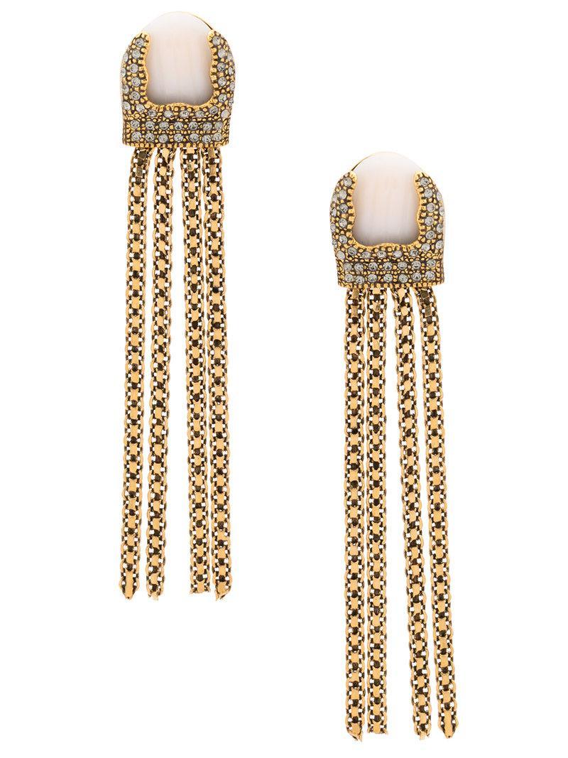 Camila Klein hanging chain long earrings - Metallic wQQc7qMH